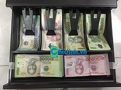 Két thu ngân siêu thị Chipos JY336 -6 ngăn tiền giấy