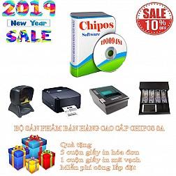 Bộ sản phẩm bán hàng cao cấp chuyên dụng cho hiệu sách CHIPOS 8A