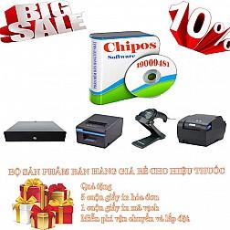 Bộ sản phẩm bán hàng giá rẻ cho hiệu thuốc CHIPOS 3D
