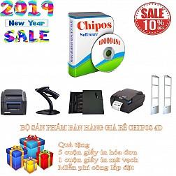 Bộ sản phẩm bán hàng giá rẻ cho shop thời trang CHIPOS 4C