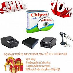 Bộ sản phẩm bán hàng giá rẻ cho siêu thị mini CHIPOS 2D
