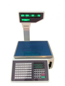 Cân điện tử siêu thị in tem dán mã vạch TMA 30Kg