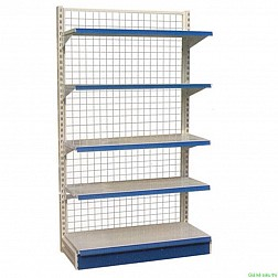 Đầu kệ siêu thị viền màu xanh, trọng lượng 100kg/đợt 5 tầng