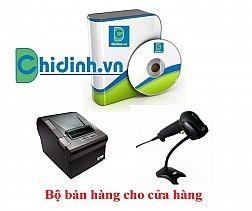 Bộ sản gồm: máy quét mã vạch Antech AS1280i + máy in hóa đơn Birch PRP-085 + Phần mềm bán hàng