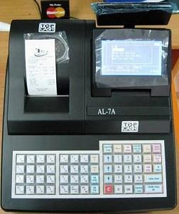 Máy tính tiền TOPCASH AL-7A dùng cho shop, quán cafe, ăn nhanh