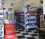 Kệ đôi bày cho siêu thị, (kệ độc lập) viền màu xanh, trọng lượng 100kg/đợt